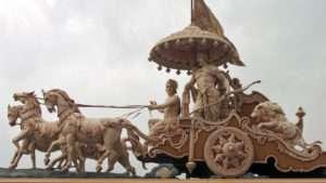 Streitwagen, Krishna, Arjuna