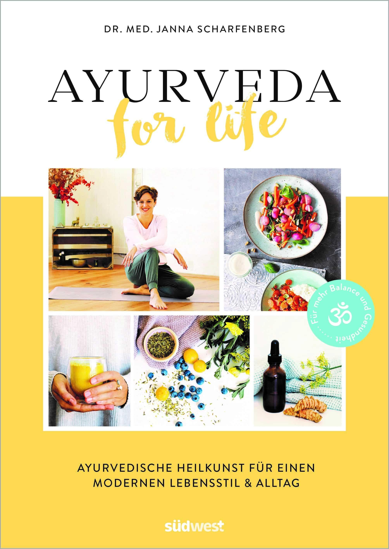 """Cover, """"Ayurveda for Life"""" von Janna Scharfenberg © Südwest Yogannetteblog.de"""