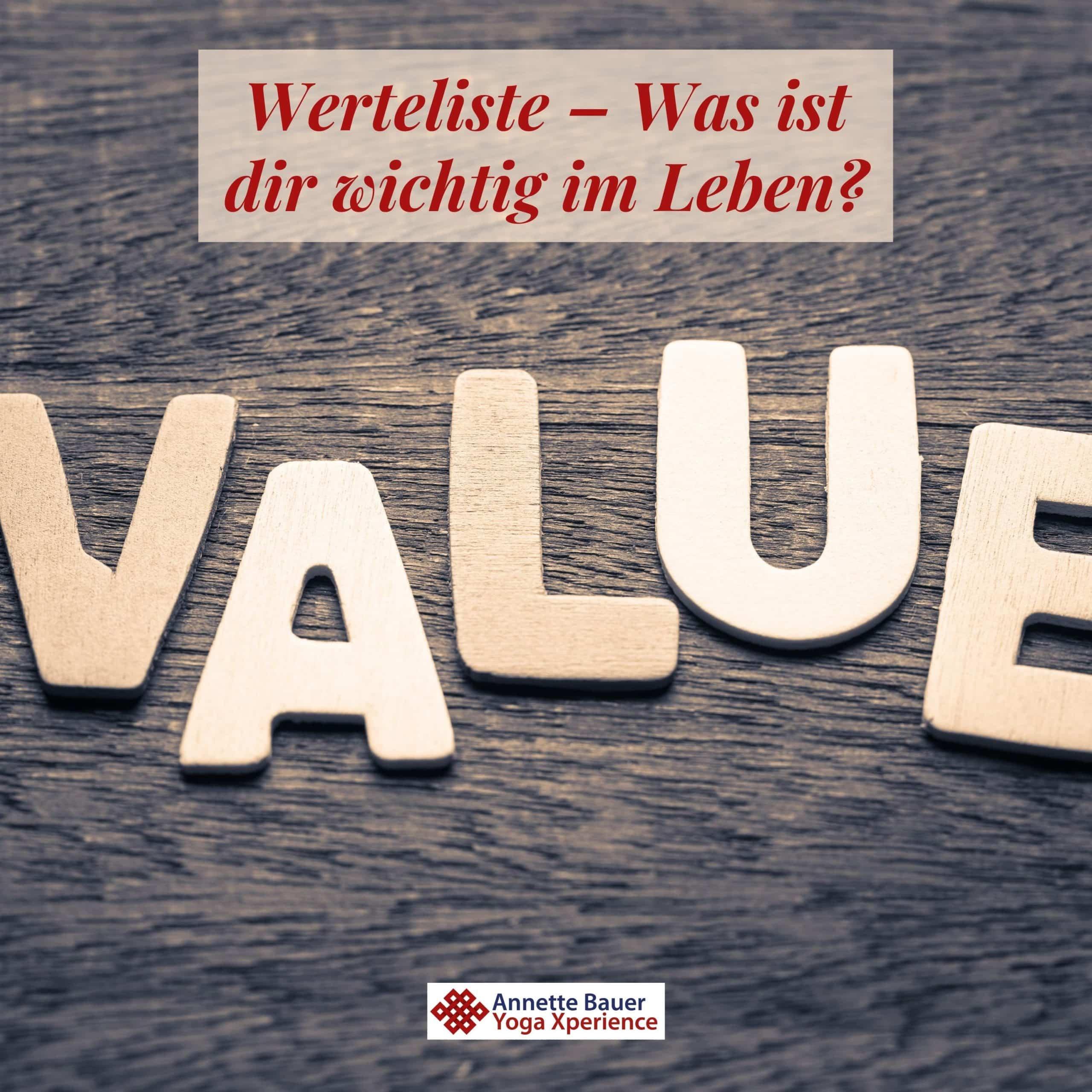 Werteliste Optik